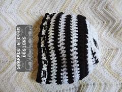 JackSkellington Beanie 01c (zreekee) Tags: sparkledoomdesigns saskatchewan crochet canada hat handmade halloween spidermambo skull jackskellington beanie toque