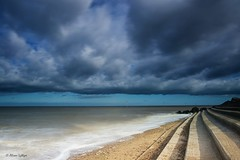 Contrast (Ali Ly) Tags: beach clouds d810 day groyne heacham nikon norfolk outdoor rocks sand sea sigma24mmart sky sunrise weather