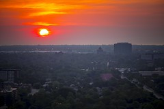 Down with the sun (Notkalvin) Tags: sundown down sunset evening night detroit michiganroof rooftop lookingdown notkalvin mikekline notkalvinphotography outdoor mist steam sun solar colorful