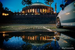 Summernights (schwara76) Tags: urban germany nrw lights city summer tonhalle eos700d pftze puddle reflections nightshot dsseldorf 1750mmf28 sigma canon vsco