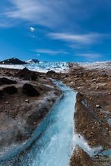 Trimble Glacier Stream (Glatz Nature Photography) Tags: alaska nature nikond810 glacier trimbleglacier tordrillomountains centralalaska stream water ice sky clouds westernalaskarange alaskamountainrange skwentnaregion