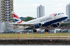 BA CityFlyer - Embraer ERJ-170STD - G-LCYE  London City Airport (paulstevenchalmers) Tags: ba cityflyer embraer london londoncity lcy airport