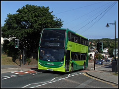 What happened next.......... (Jason 87030) Tags: green enviro 400 hj16hsg wootton island iow isleofwight 9 newport sun sky boring display awful transport dreadful doubledecker southernvectis 1617