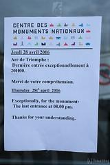 closed... (tomosang R32m) Tags: arcdetriomphe arcdetriomphedeltoile france paris    lavenuedeschampslyses  champslyses