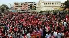 Grevistas na cidade de Vizianagaram (diarioliberdadebrasil) Tags: ndia greve