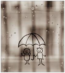 Rain (PattyK.) Tags: rain window raindrops umbrella august nikon ipiccy pixlr ilovephotography ioannina greece whereilive