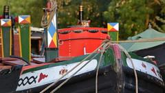 Working Boats (mitchell_dawn) Tags: frozenintime boats narrowboat workingboat canal canalboat moored grandunioncanal longitchington twoboatsinn flickrfriday bluelinecanalcarriers