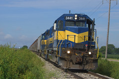 TPW 3441 East (BSTPWRAIL) Tags: tpw toledo peoria western railroad railway rail america railamerica road way gw genesee wyoming illinois sd402 locomotive local grain train extra cruger