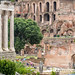 Rome, Italy- The ruins of the Roman Forum, the ancient social, political and commercial hub of the Roman Empire. This district was home to temples, basilicas and many other public spaces.