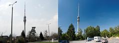 Vergleich 2005 - 2016 Buswendeplatz am Dresdner Fernsehturm (Veit Schagow) Tags: dresden fernshturm broadcasttower tvtower tower turm pappritz wachwitz sachsen saxony