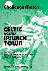Celtic vs Ipswich Town - 1976 - Cover Page (The Sky Strikers) Tags: celtic ipswich town challenge match friendly parkhead souvenir programme 10p