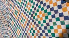 Tlemcen (Silk Roads) Tags: tlemcen algerie algeria carrelage square color couleur old vieux viejo vieja mosque mosque mezquita yellow blue white green azul verde blanco blanc bleu vert jaune