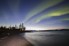Aurora Borealis (ingolfssonvalur) Tags: norðurljós aurora borealis northern lights nature night sky stars stjörnur water vatn þingvallavatn island iceland nótt himinn strönd