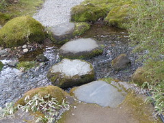 From stone to stone (seikinsou) Tags: japan nikko spring emperor tamozawa palace villa residence museum visit garden stream water stepping stone