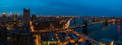 New York (Ash and Debris) Tags: illumination usa brooklinbridge high newyork evening lights up skyscraper manhattan river nyc skyscrapers bridge hudson night urban brooklin streets city cityscape