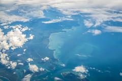 Vol Doha DOH - Bali Denpasar DPS (SebastienToulouse) Tags: avion boeing 777 777300 qatar airways bali denpasar doha ciel sunset nuages mer ile indonsie id