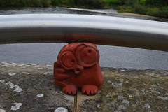Perth on a gloomy day (caitlinsteewart) Tags: red owl ornament cute water river tay perth