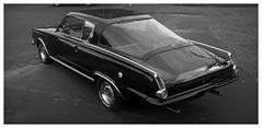 Barracuda (daveelmore) Tags: plymouthbarracuda plymouth barracuda mopar car automobile vehicle musclecar hotrod stitchedpanorama panorama blackwhite bw lumixleicadgsummilux25mm114