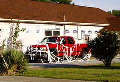TP'd (jpmatth) Tags: digital color canon eos 7d lenstagged ef50mm25compactmacro hometown taylorville illinois red pickup truck prank toilet paper 2016