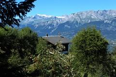 Vercorin (bulbocode909) Tags: valais suisse vercorin forts arbres chalets montagnes nature vert bleu paysages