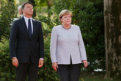 """Italian Prime Minister Matteo Renzi had some fighting words for German leader Angela Merkel: Your obsession with austerity is strangling Europe and your country is the only one profiting."" (karo4greatness) Tags: europe eu emea marnello italy"
