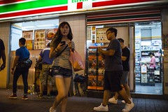 Midnight () Tags: leica leicam240p leicam leicamp konica konicahexanonuc35f2 35mm f20 f2 hexanon hongkong shatin street streetphotography people candid city stranger mp m240p m240 publicspace walking offfinder road travelling trip travel    asia girls girl woman  wideopen mongkok kowloon