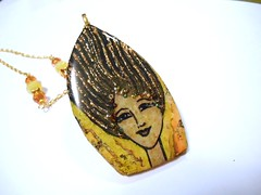Summer Wind (LynzCraftz) Tags: polymerclay resin swellegant steampunk handmade oneofakind jewelry necklace pendant