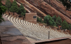IMG_7899 (kz1000ps) Tags: tour2016 america unitedstates scenery landscape colorado hills mountains rocky rockies cloudy gray grey fog redrockspark foothills monoliths morrison denver redsandstoneoutcrops rockformations amphitheater live music venue theatre concert usa