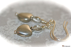 Silver Glass Heart Earrings (DJAjewels) Tags: sterlingsilver heartearrings artdecoearrings nouveaujewelry