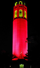 Red and Gold Coit Tower from Telegraph Hill - San Francisco (BlueVoter - thanks for 2.5M views) Tags: sanfrancisco tower football sfo nfl 49ers coit
