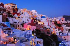 Santorini Blues (mj.foto) Tags: longexposure sunset heritage nikon aegean unesco santorini greece bluehour oia greekisland aegeansea d700 markjosue markdavidjosue