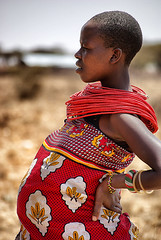 Pregnant Samburu lady (Sallyrango) Tags: africa lady pattern kenya african tribal fabric textiles samburu africanpeople samburutribe africantextiles snapseed worldpattern pregnantafricanlady aricanwoman