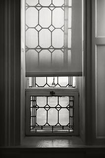 window shade and shadow