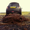 Code: brown (☁Robert) Tags: field car funny jobby cowpat instagram