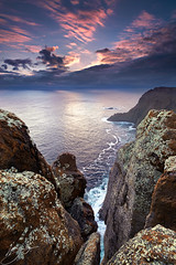 Not falling, flying (hillsee) Tags: light sunset seascape seacliffs caperaoul tasmanpeninsular