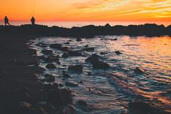 Horizons (Andrea LD) Tags: sunset sea ex 30 canon eos fisherman stones f14 sigma explore foam 7d horizons 30mm hsm