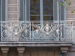 Modernista Balcony (pov_steve) Tags: barcelona architecture spain balcony wroughtiron artnouveau modernarchitecture modernismo catalan modernisme jugendstil modernista wroughtironbalcony modernistaarchitecture