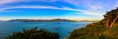 Panorama view of Golden Gate Bridge from Lands End - San Francisco CA (mbell1975) Tags: ocean sanfrancisco california from park ca bridge pano