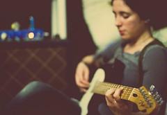 43/365 :: Late Night Rehearsal (Brith) Tags: selfportrait vintage 50mm guitar tube amp fender tele telecaster handbuilt 365days girlplayingguitar