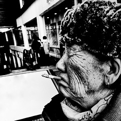 I've got a hold on you (~mimo~) Tags: china street old city blackandwhite woman cold hat square photography shanghai cigarette grain gritty wrinkles iphone iphonography mimokhair