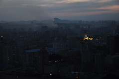 Pyongyang, North Korea (evening) (yackshack) Tags: travel skyline night nikon asia asien north korea explore pyongyang corea dprk coreadelnorte nordkorea d5000 coréedunord coreadelnord 조선민주주의인민공화국 朝鮮民主主義人民共和國 pjöngjang dvrk كورياالشمالية корейскаянароднодемократическаяреспублика