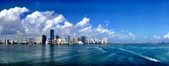 Miami from Rickenbacker (miamism) Tags: blue biscaynebay miamiviews downtownmiami miamiskyline rickenbackercauseway brickellavenue miamirealestate miamipanorama brickellcondos downtownmiamicondos miamiboating miamisms miamiclouds rickenbackerbridge
