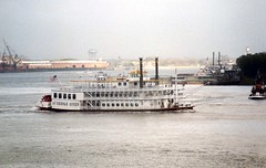 File0251 (alternate_world) Tags: usa skyline boats fishing louisiana ships neworleans cranes swamps mississippiriver houseboats alligators barges paddlewheel riverlife drydocks southlouisiana