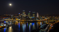 Night Landscape Photo - West End Overlook - Pittsburgh, PA (JayCass84) Tags: city light urban building skyline night skyscraper buildings lights pittsburgh skyscrapers pennsylvania urbanphotography nightlandscape 412 instagram instagramapp