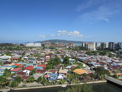 Beautiful, Sunny Morning In Kota Kinabalu City (thienzieyung) Tags: city morning travel blue windows sea panorama cars tourism nature water beautiful skyline clouds buildings mall river hotel islands design coast town flying amazing construction scenery asia colours view traffic cloudy good horizon under cities sunny places villages panoramic hills roofs vehicles malaysia greens borneo tropical kotakinabalu geography projects roads southeast tropics sabah birdseye zinc lanes modernization wawasan accomadation kampungsembulan karamunsing kktimessquare thienzieyung tangdynastypark imagomall