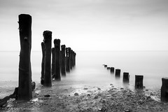 Spurn Point Groynes (Iamamanc) Tags: longexposure sea pier eastcoast groynes eastyorkshire seadefence spurnpoint longshoredrift spurnhead 10stop tamron1750mmf28 nd30 bigstopper woodengroynes adrianfortuneskycom