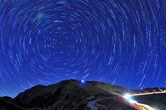 Star trails (Vincent_Ting) Tags: sunset sky mountain night clouds star glow taiwan trails flare formosa   gettyimages crepuscularrays startrails  seaofclouds              vincentting flickrandroidapp:filter=none