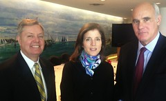Ambassador Vale de Almeida meets with Sen L. Graham (R-SC) and Caroline Kennedy