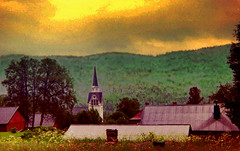 church in the valley (Per Ola Wiberg ~ Powi) Tags: summer nature sweden july ps 1992 jmtland musictomyeyes duved artistoftheyear creativeyeuniverse vangoghaward photographyforrecreation