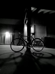 bicycle-shadow-night.jpg (r.nial.bradshaw) Tags: urban bike dark globe nighttime creativecommons afterdark stockphoto specialized stockphotography royaltyfree attributionlicense freeimage